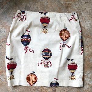 Talbots Hot Air Balloon Pencil Skirt